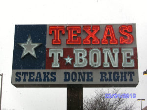 Texas T-Bone Neon Sign